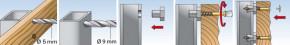Hmoždinky P9K pro distanční montáž plotovek