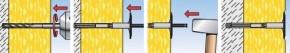 Talířové hmoždinky FIF S s kombinovaným trnem 8x370mm