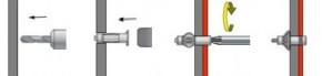 Ocelové hmoždinky s hákem HOD-C Ocel Zinek bílý