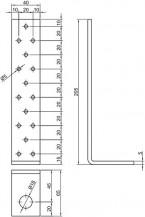Kotevní prvek 40x65x205mm
