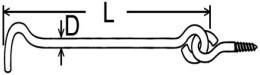 Rozpěrné háky URH Ocel Zinek bílý