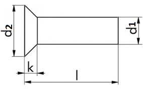 Zápustné rozklepávací nýty DIN 661 Hliník