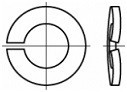 Prohnuté pérové podložky DIN 128A Nerez A2