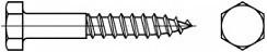 Podstavcové vruty DIN 571 Nerez A2