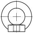 Závěsné matice DIN 582 Nerez A2