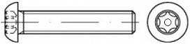 Šrouby s půlkulatou hlavou  ISO 7380 Nerez A2 bezpečnostní