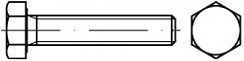 Šrouby se šestihrannou hlavou DIN 933 Nerez A2