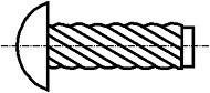Šroubové hřeby Nerez A2