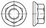 Límcové matice Nerez A2 DIN 6923