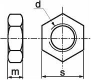 Nízké matice  DIN 439 Nerez A2