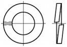 Pérové podložky s obdélníkovým průřezem DIN 127B Nerez A2