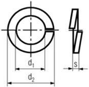 Pérové podložky s obdélníkovým průřezem DIN 127B  Nerez A4