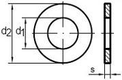 Ploché podložky DIN 125A  Nerez A2