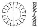 Vějířové podložky DIN 6798A  Nerez A2