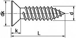 Zápustné vruty do plechu PH DIN 7982 Nerez A2