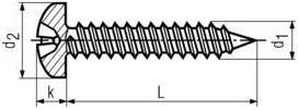 Vruty do plechu DIN 7981 Nerez A2