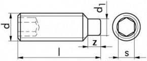 Stavěcí šrouby DIN 915 Nerez A2