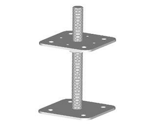 Stavitelné patky pilíře