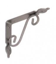 Dekorativní konzole kovaná gradovaná stříbrná