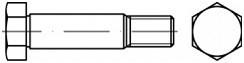 Lícované šrouby se šestihrannou hlavou DIN 610 Ocel 8.8 Bez povrchové úpravy