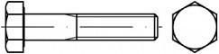 Šrouby se šestihrannou hlavou s jemným závitem DIN 960 Ocel 8.8 Bez povrchové úpravy