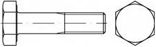 Konstrukční šrouby se šestihrannou hlavou DIN 6914 Ocel 10.9 Bez povrchové úpravy