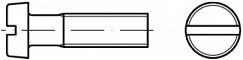 Šrouby s válcovou hlavou DIN 84A Ocel 8.8 Zinek bílý