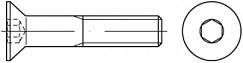 Imbusové šrouby se zápustnou hlavou DIN 7991 Ocel 8.8 Bez povrchové úpravy