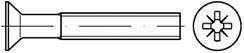 Šrouby se zápustnou hlavou DIN 965 Ocel Zinek bílý