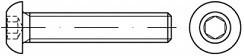 Imbusové šrouby s půlkulatou hlavou ISO 7380 Ocel 10.9 Zinek bílý