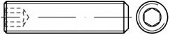 Stavěcí šrouby DIN 913 Ocel Zinek bílý