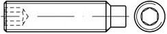 Stavěcí šrouby DIN 915 Ocel Zinek bílý
