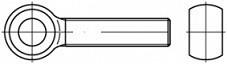 Šrouby s okem s celým závitem DIN 444LB Ocel 4.6 Zinek bílý