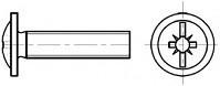 Okrasné šrouby DIN 967 Ocel Zinek bílý