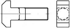 Šrouby s T hlavou DIN 186 Ocel 4.6 Bez povrchové úpravy