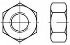 Pevnostní šestihranné matice DIN 934 Ocel 10 Zinek bílý