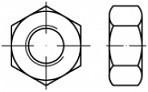 Konstrukční šestihranné matice DIN 6915 Ocel 10 Žárový zinek