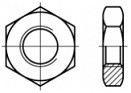 Nízké matice s jemným závitem DIN 439 Ocel 5 Zinek bílý