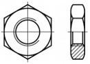 Nízké matice s levým závitem DIN 439 Ocel 5 Zinek bílý