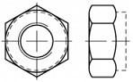 Pevnostní pojistné matice s jemným závitem DIN 985 Ocel 10 Zinek bílý