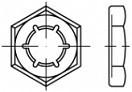 Plechové pojistné matice DIN 7967 Ocel Zinek bílý