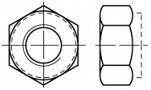 Vysoké pojistné matice DIN 982 Ocel 8 Zinek bílý