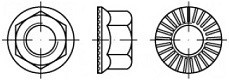 Pevnostní límcové matice RIPP 88914 Ocel 10 Bez povrchové úpravy