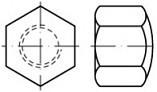 Uzavřené matice DIN 917 Ocel Zinek bílý