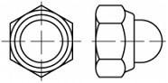Pojistná klobouková matice DIN 986 Ocel 6 Zinek bílý