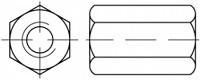 Pevnostní prodlužovací matice DIN 6334 Ocel 10 Zinek bílý