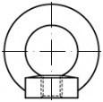 Závěsné matice DIN 582 Ocel Zinek bílý