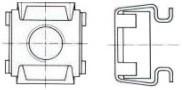 Klecové matice SMG Ocel Zinek bílý