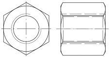 Trapézové matice Ocel Bez povrchové úpravy