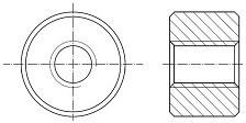 Kruhové trapézové matice Ocel Bez povrchové úpravy